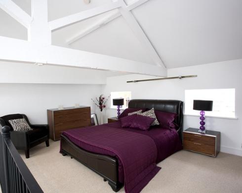 Purple Elegant Bedroom Design